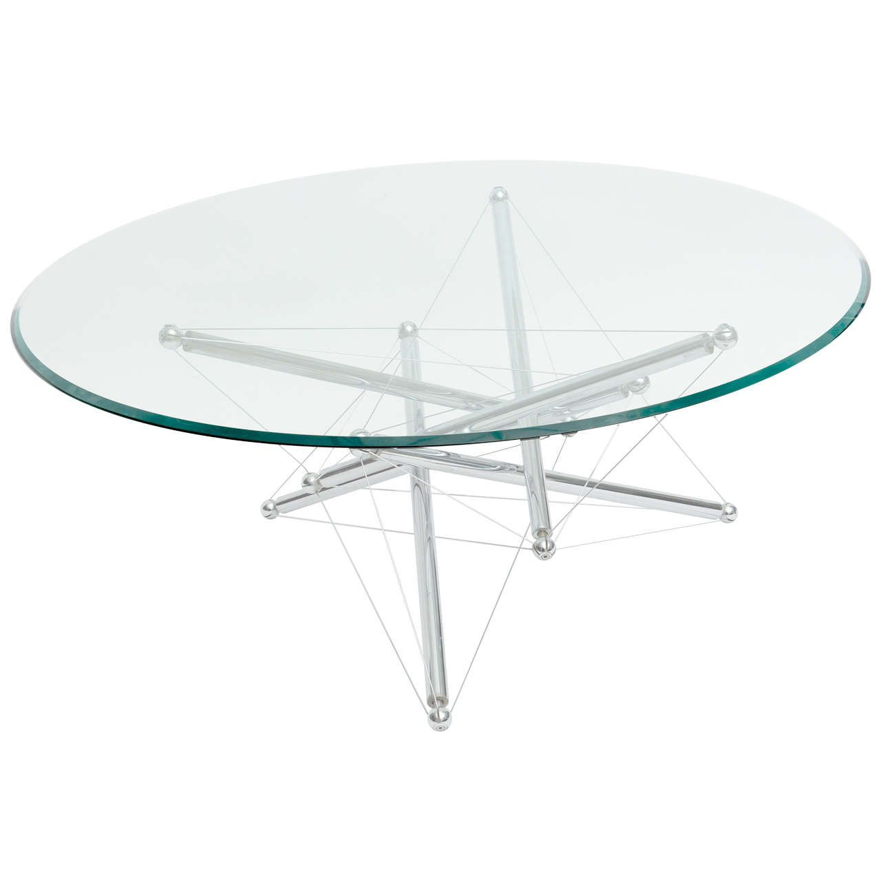 Italian Modern Polished Chrome Low Table Theodore Waddell For Cassina Low Tables Polished Chrome Modern Glass [ 1280 x 1280 Pixel ]