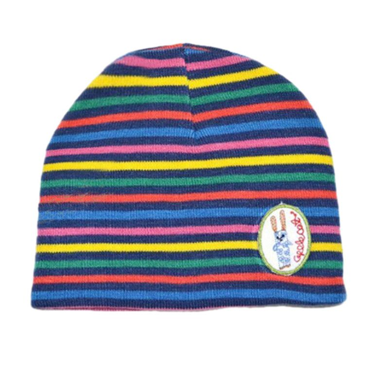 65b23ac0d Click to Buy << Baby Girl Boy Colorful Striped Skull Hats Kids ...