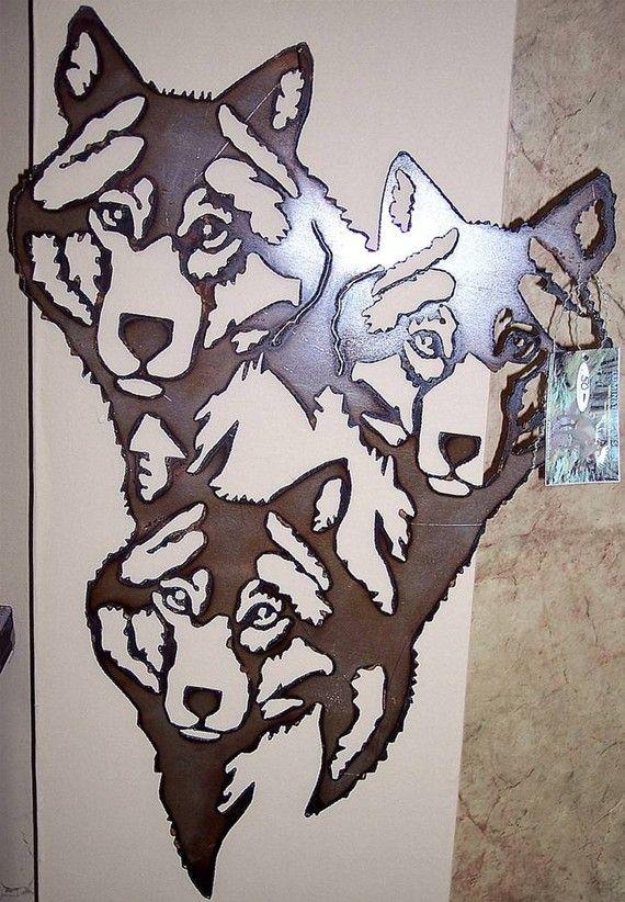 pack of wolves plasma cut wall art plasma cut leaves pinterest