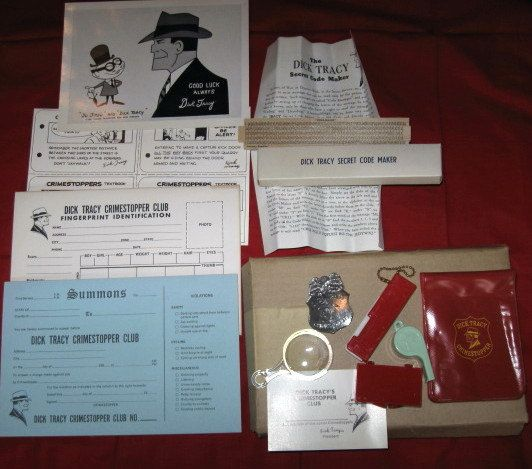 Vintage Dick Tracy Crimestoppers Club Kit UNUSED by kccaseyfinds, $34.00