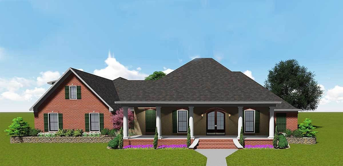 Southern House Plan with Bonus Space