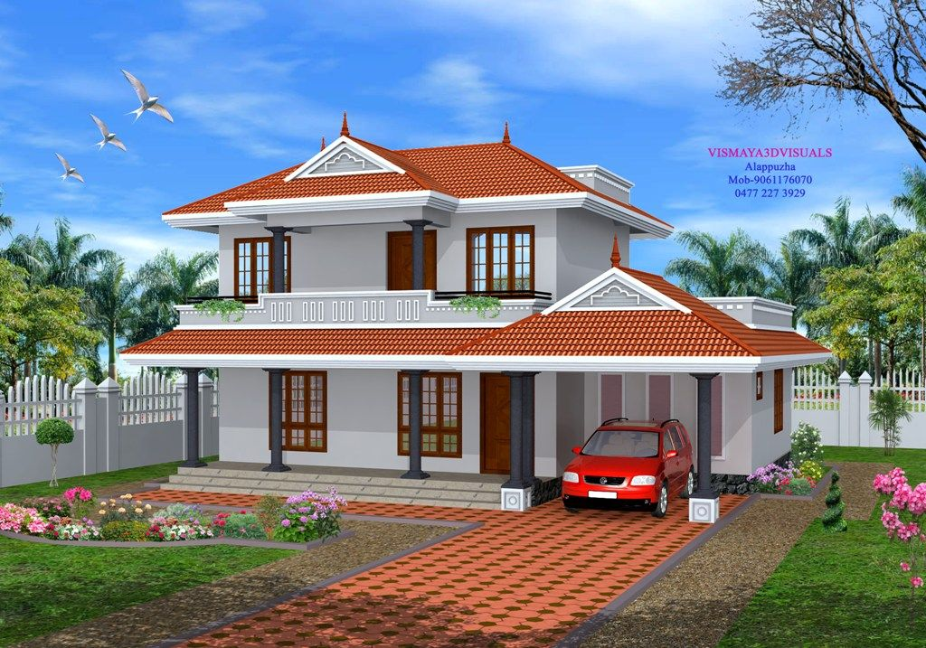 Kerala Style Home Front Elevation : Home exterior design photos house elevation designs