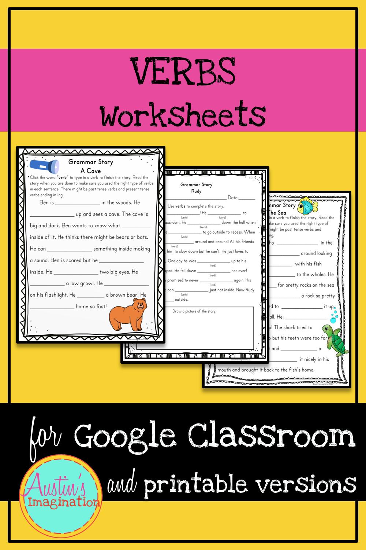 Verbs Printable Worksheets And Google Classroom Slides Teach Parts Of Speech Verbs Parts Of Speech Literacy Printables Cvc Words [ 1500 x 1000 Pixel ]