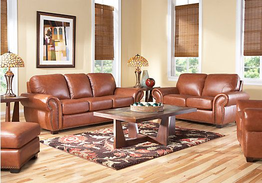 shop for a sky valley 3 pc leather living room at rooms to go