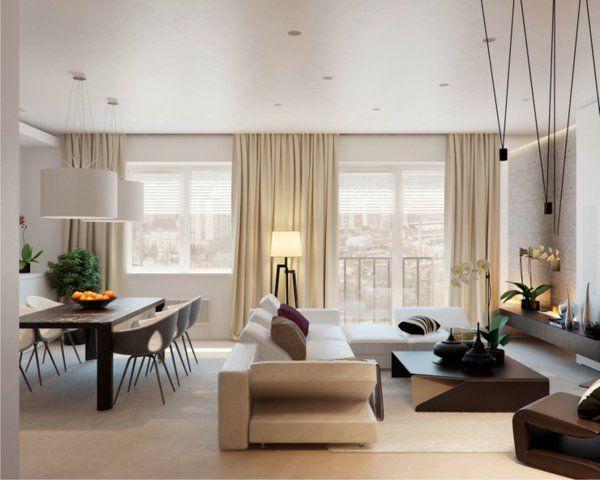 Prächtig Modern Wohnzimmer Designs Esstisch Couch Leuchter Idee