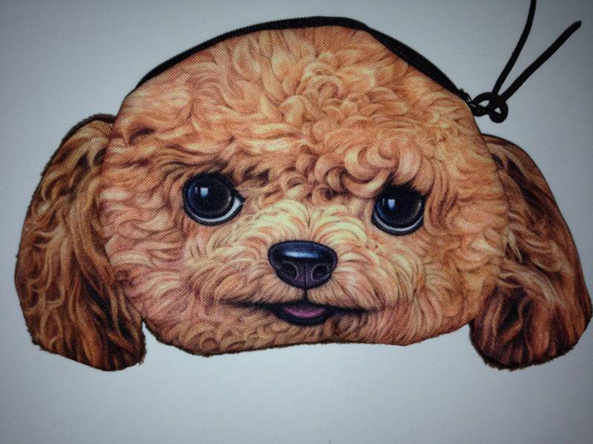 Hunde Geldbörsen oder Leckerli Taschen in mit verschiedenen Motivten von cottonkugellicht auf waduba.  Es handelt sich um eine realistischen Foto 3D Druck Eignet sich auch als Kosmetiktasche, Schlüsseltasche oder Fototasche.  Eine tolle Geschenkidee für Tierfreunde oder Hundebesitzer  Ab 5,95 € je Stück