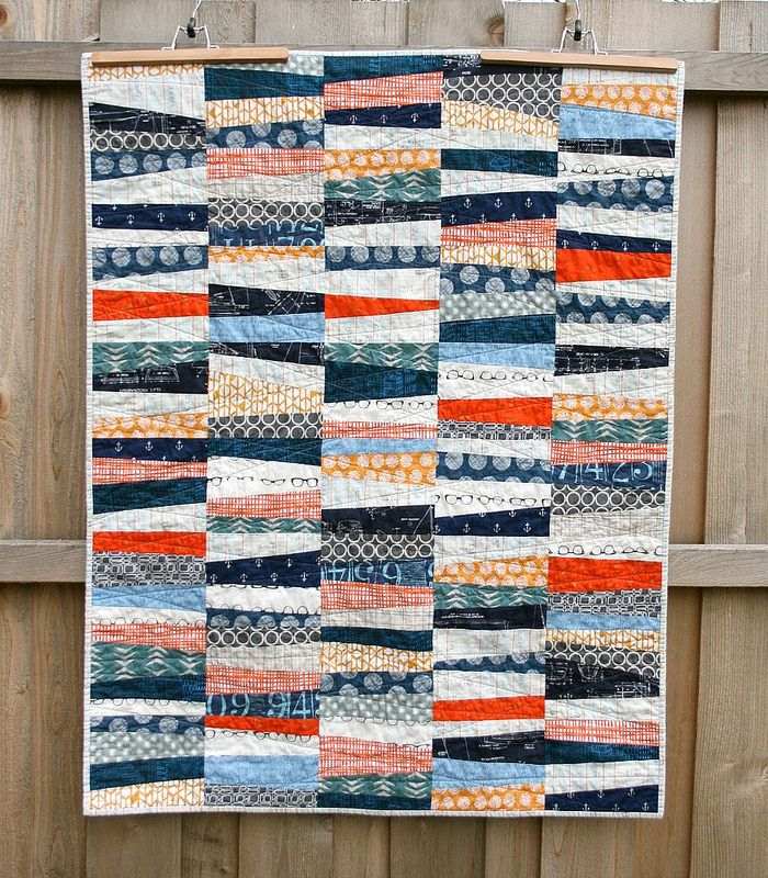 Wonky Stipes Baby Quilt | by QuiltsByEmily