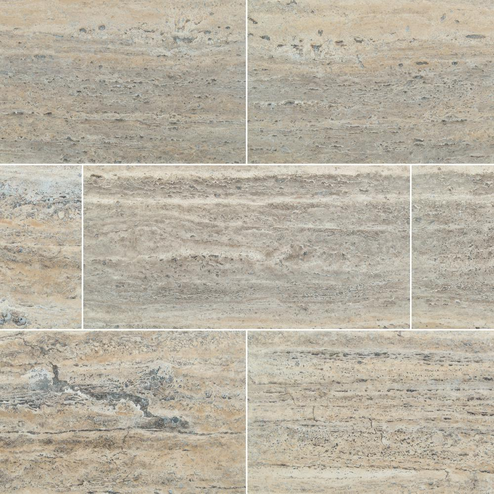 Msi Travertine 12 In X 24 In Silver Honed Filled Travertine Floor And Wall Tile 8 Sq Ft Case Ttsiltrvc In 2020 Travertine Floors Wall Tiles Floor And Wall Tile
