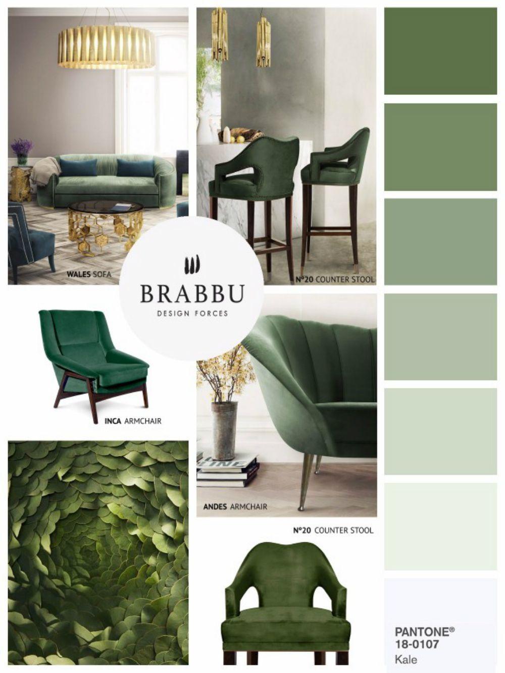 Greenery |Pantone Colors Wohndesign | Wohnzimmer Ideen | BRABBU ...
