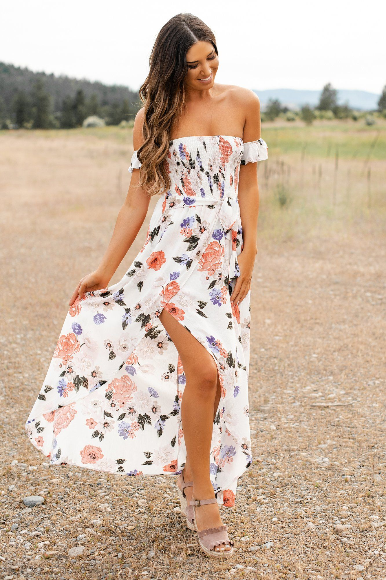 32026efd5a Vacation Spot Floral Maxi Dress (Ivory) - NanaMacs Boutique