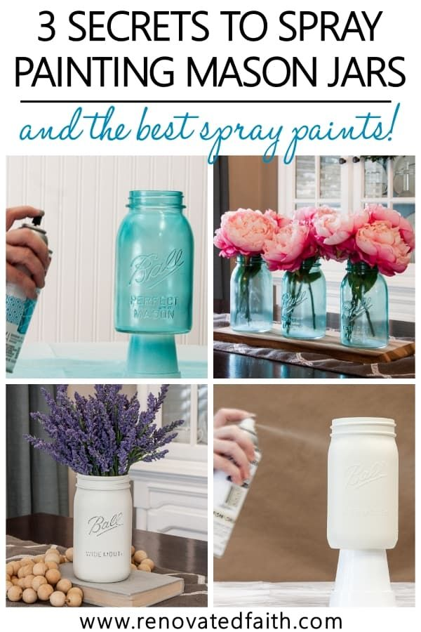 The Best Guide to Paint Mason Jars in Any Style, Color or Tint