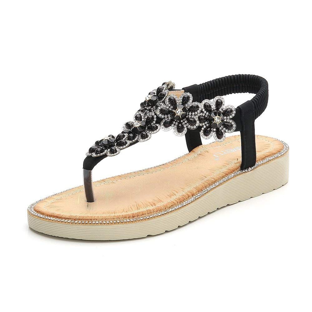 a045429556795 Meeshine Womens Summer Thong Flat Sandals T-Strap Bohemian Rhinestone Slip  On Flip Flops Shoes   Thank you for seeing our photograph.