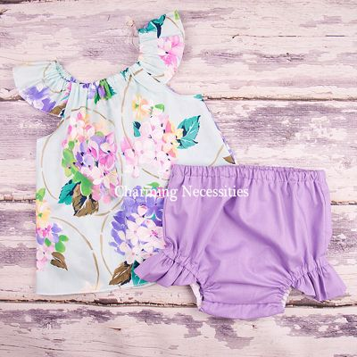Delightful Mint Flutter Top and Ruffle Diaper Cover Set-
