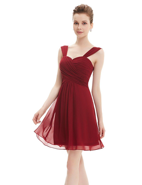 f76db108a721 Ever Pretty - Vestito - Donna bordeaux 40  Amazon.it  Abbigliamento ...