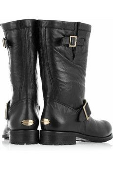 Jimmy Choo black motorcycle boots - why are my tastes so expensive and my pocketbook so empty : (