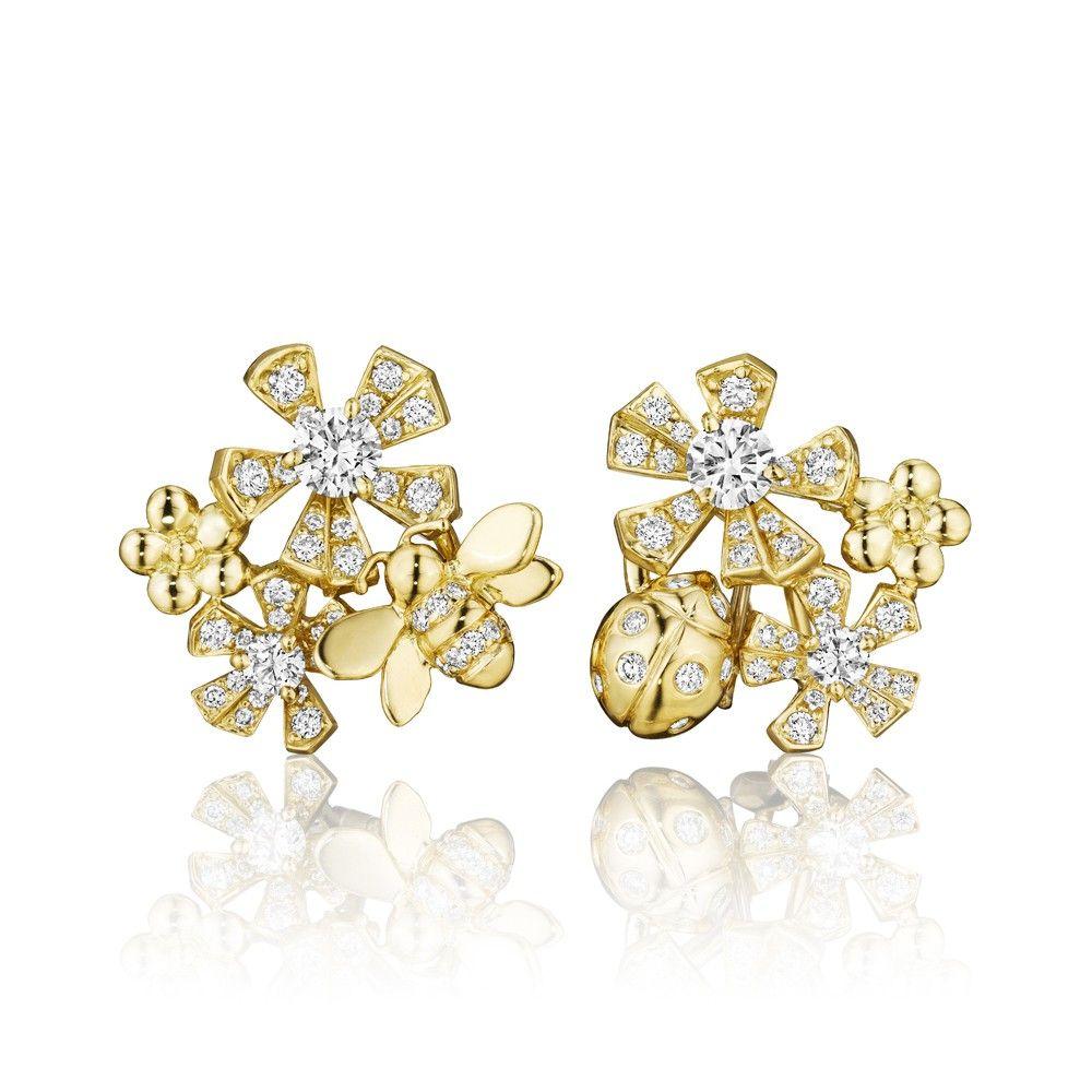 Mimi So Wonderland Pavé Diamond Butterfly Stud Earrings W4dqDeR
