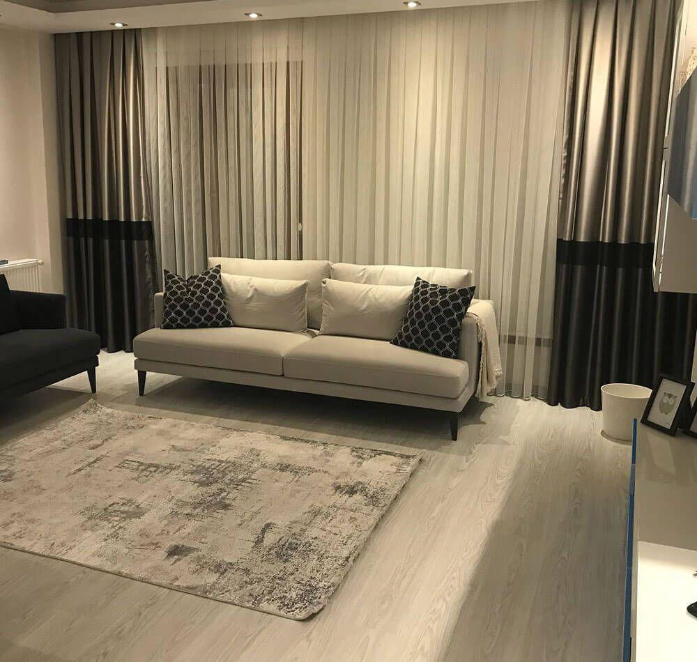 Uzun Cam Perde Modelleri Icin 15 Secenek Dekordiyon Minimalist Oturma Odalari Ev Dekoru Oturma Odasi Dekorasyonu