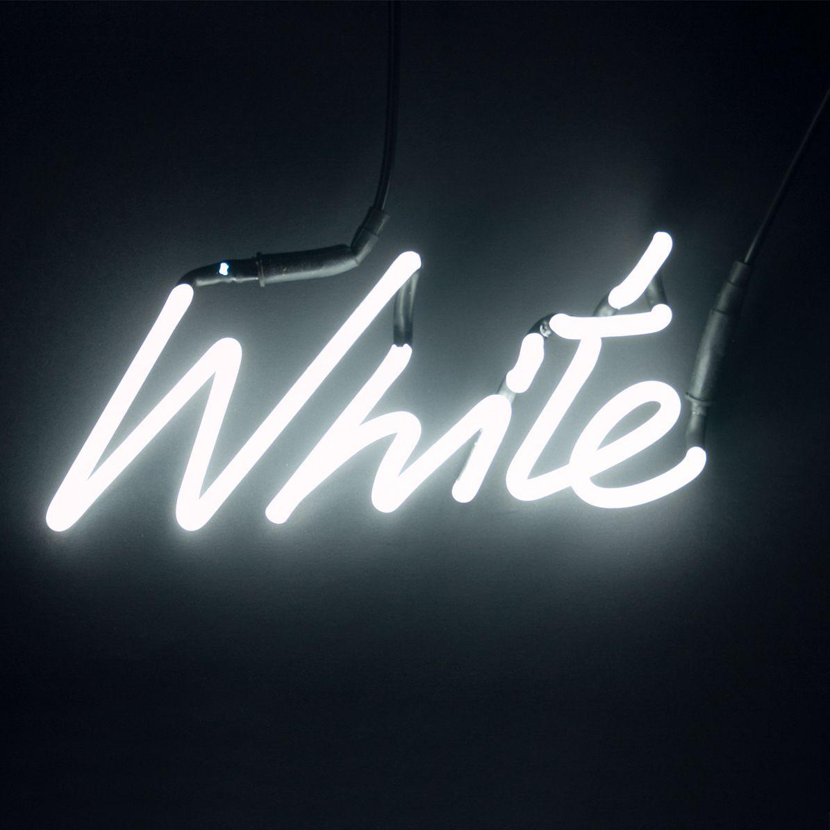 Neon A Accrocher Au Mur shades - applique / enseigne néon blanc   applique murale
