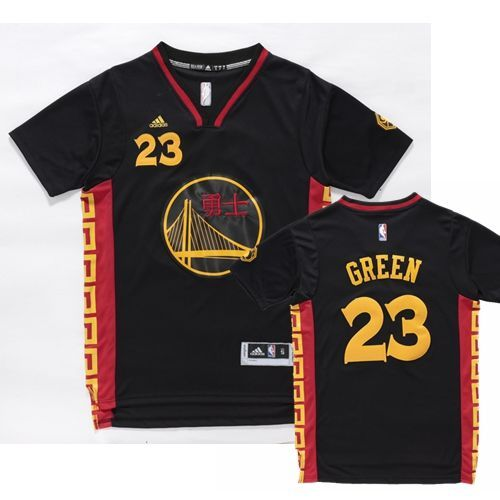 Mens Golden State Warrlors  23 Draymond Green Black Slate Chinese New Year  Jersey 2bc67ce84