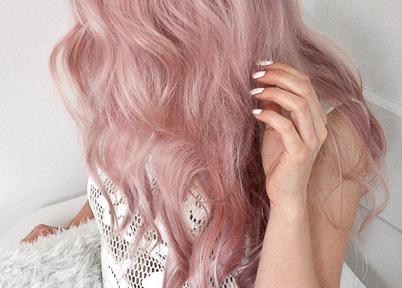 Lime Crime Unicorn Hair Sext Review and Tutorial | MayaLaMode | Hair color pink, Pastel pink ...