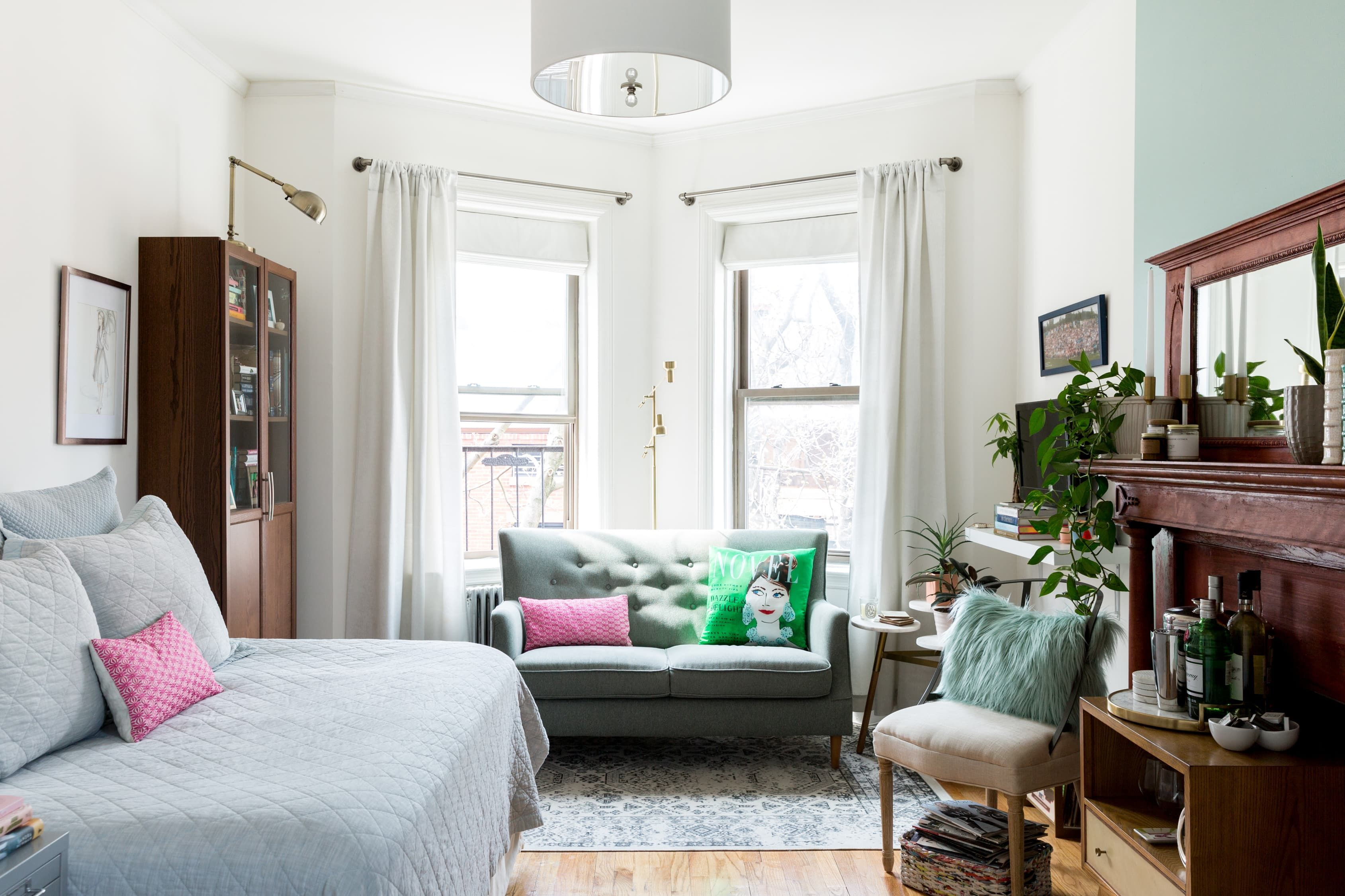 A Super Small 375 Square Foot Studio Is Masterfully Arranged Tiny Living Rooms Living Room Chairs Small Spaces