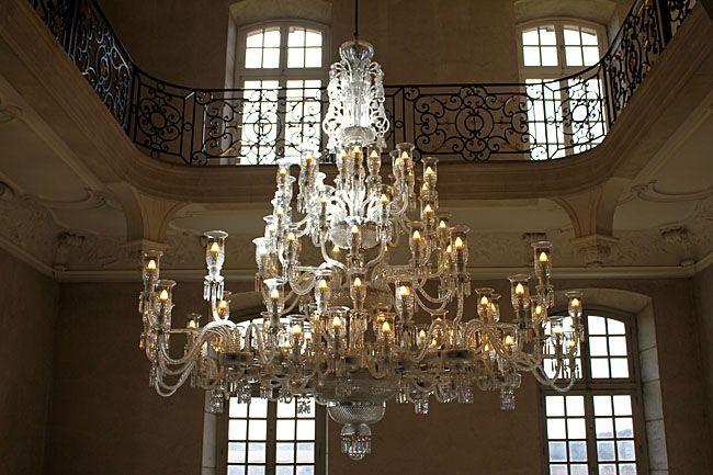 lustre en cristal de saint louis abbaye des prémontrés pont à