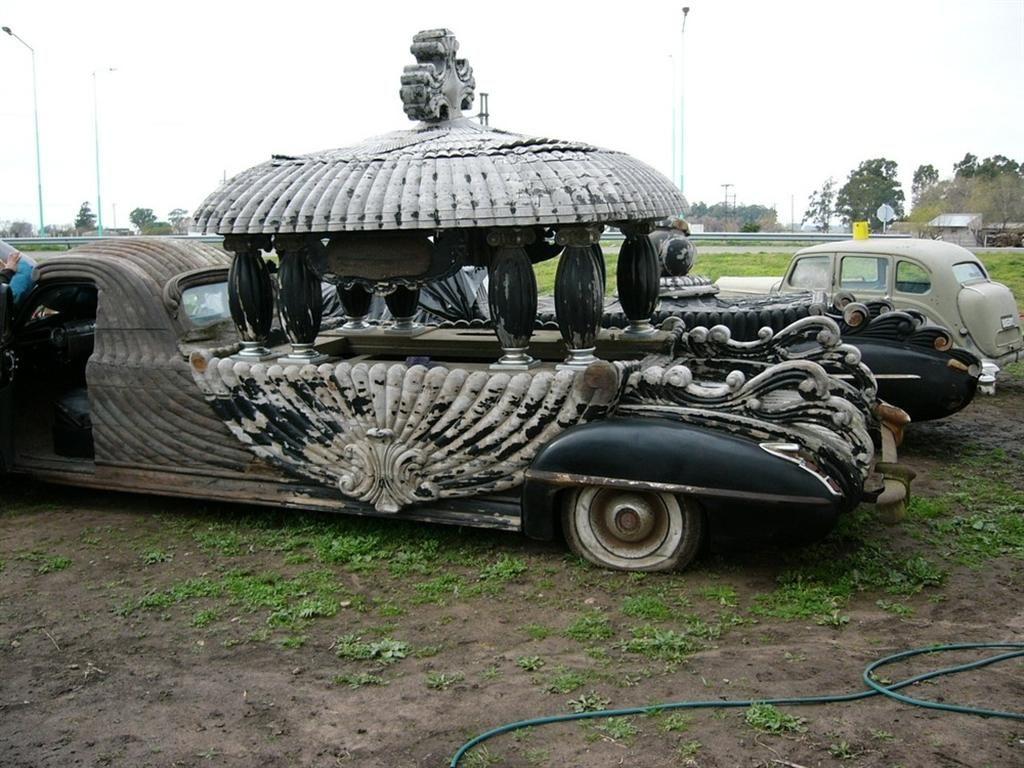 Vintage funeral car of argentina