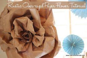 big paper bag flowers