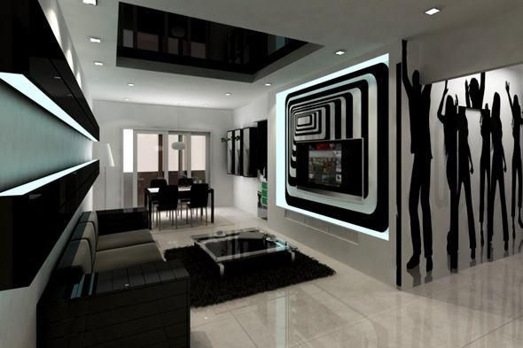 15 Black and White Living Room Ideas White living rooms, Living