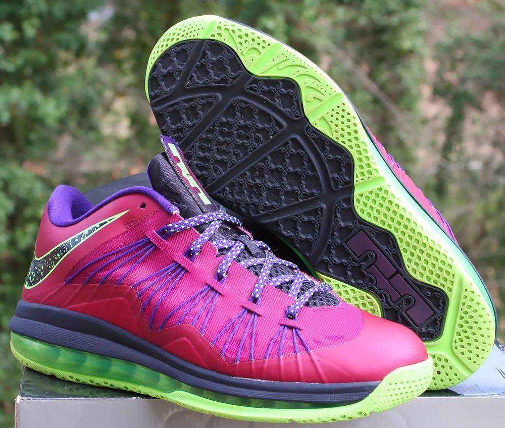 b8f75d179181 Nike Air Max LeBron X Low Plum Red Size 8.5 Raspberry Red Purple 579765-601   Nike  BasketballShoes