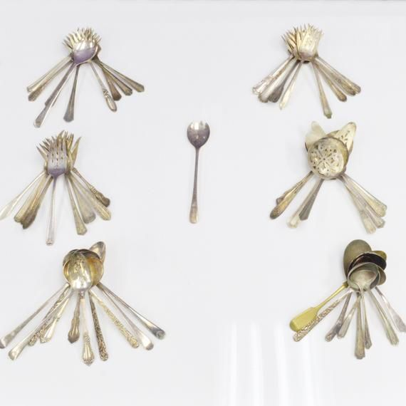 Lot Of Silver Plate Flatware 55 pieces total, Giving You  Extra Pieces For Free! Gorgeous Mixed Detailed Patterns, Everything From Antique To Vintage!Consists Of 55 Serving PiecesSmallest Piece Measures Just Over 8