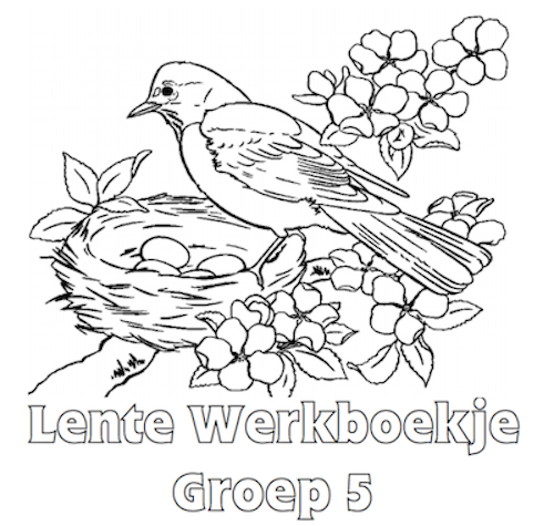 Kleurplaten Groep 5 Zomer.Lente Werkboekje Groep 5 Ovi Madarak Knutselen Voorjaar