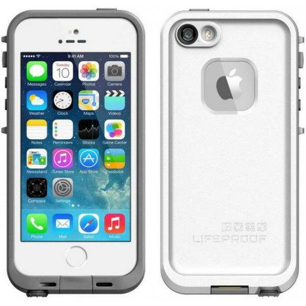 Genuine Lifeproof Fre Waterproof Case iPhone 5S Fingerprint Touch ID Compatible - White