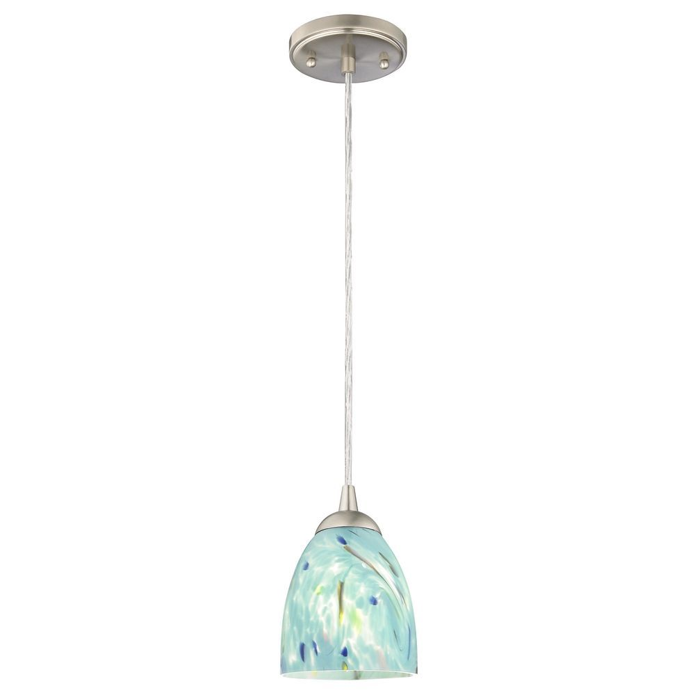 contemporary mini pendant lighting. Contemporary Mini-Pendant Light With Turquoise Art Glass At Destination Lighting Mini Pendant