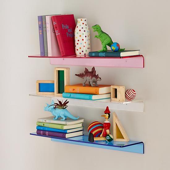 acrylic wall shelf makes items look like theyu0027re floating