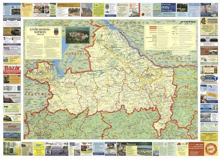 Gyor Moson Sopron Megye Domborzati Terkepe Google Kereses Map