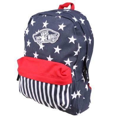 Vans Realm Backpack Lacivert Kirmizi Kadin Sirt Cantasi Sirt Cantasi Kadin Cantalar