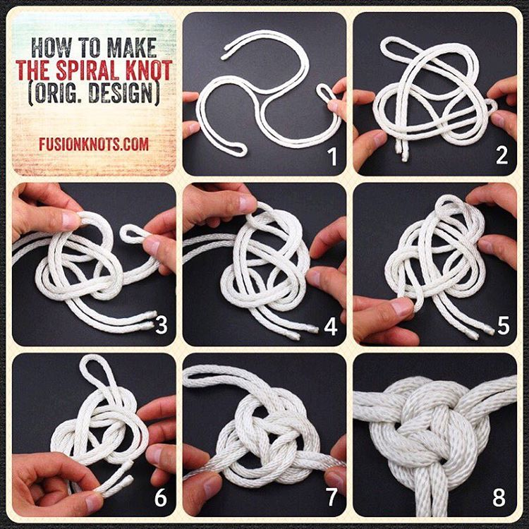 Reposting Jd Lenzen The Spiral Knot Step By Step Image