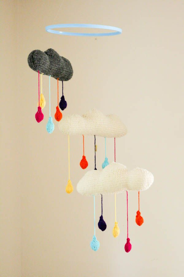 DIY Rainy Cloud Mobile