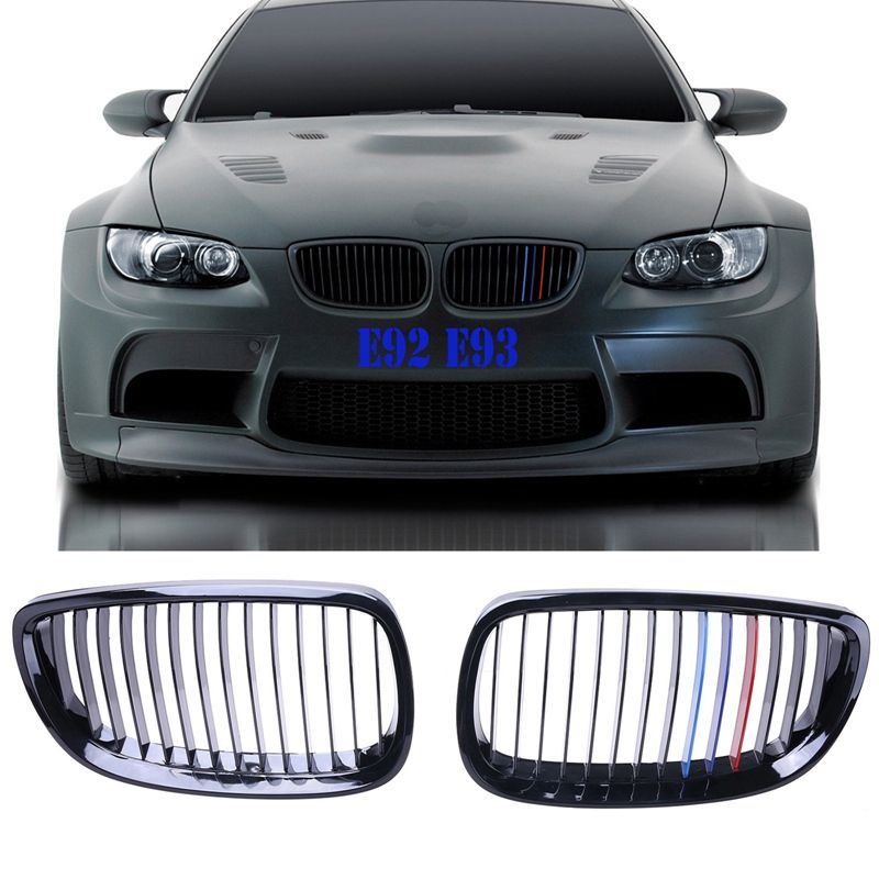 2x Front Grille Kidney Grill Guards For Bmw E92 Coupe E93