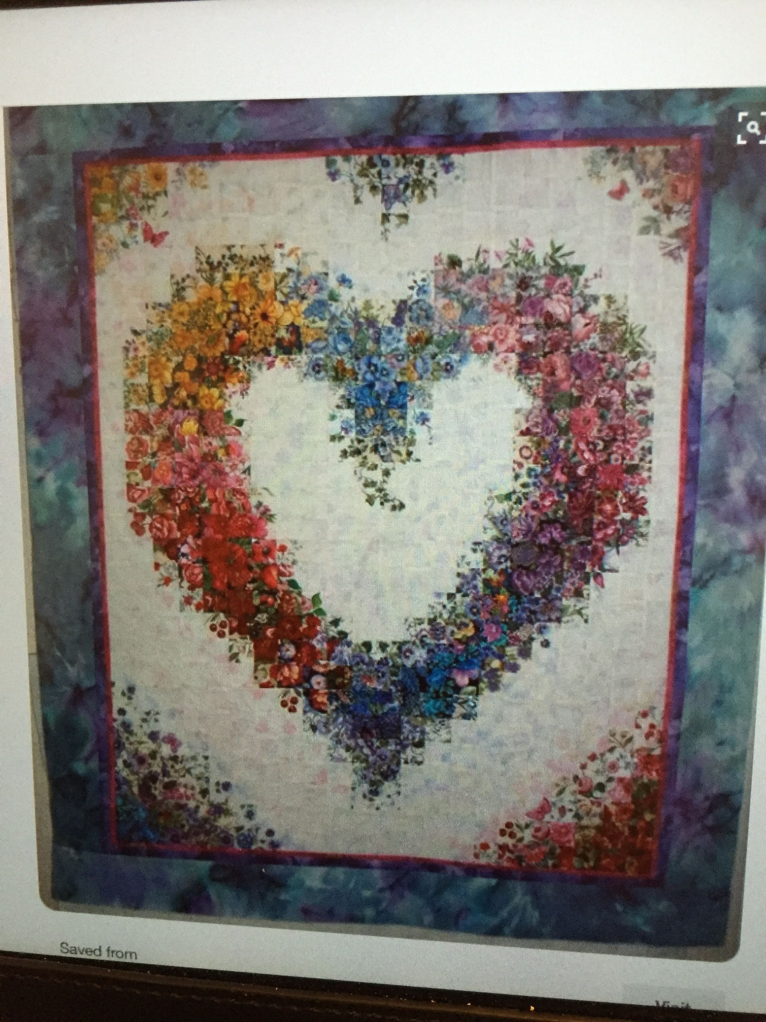 Pin By Cathy Mclaughlin On Crafts Watercolor Quilt Heart Quilt