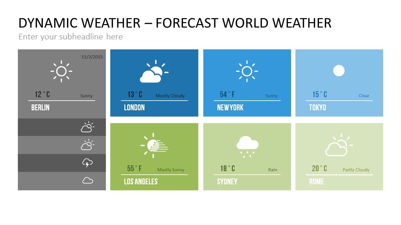 20 Ways To Show Real Time Weather Information Presentationpoint