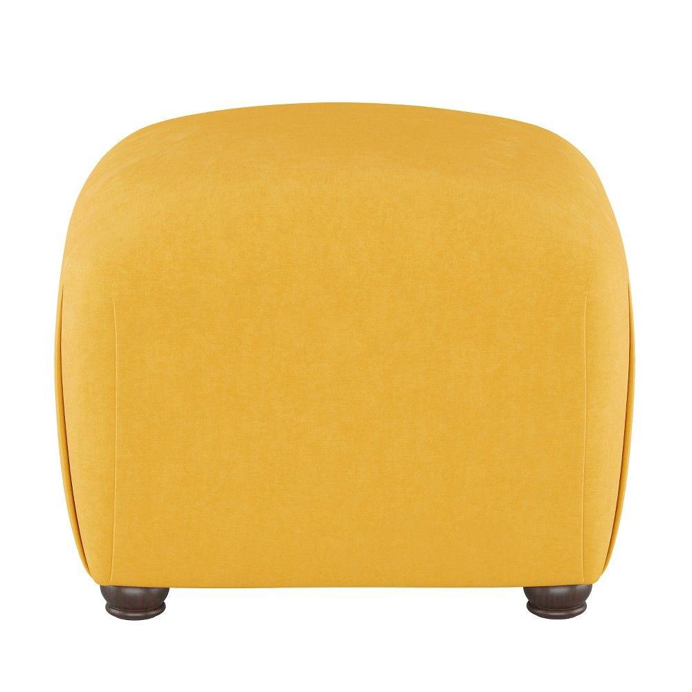 Poppy Ottoman Yellow Velvet Opalhouse™ Square pouf