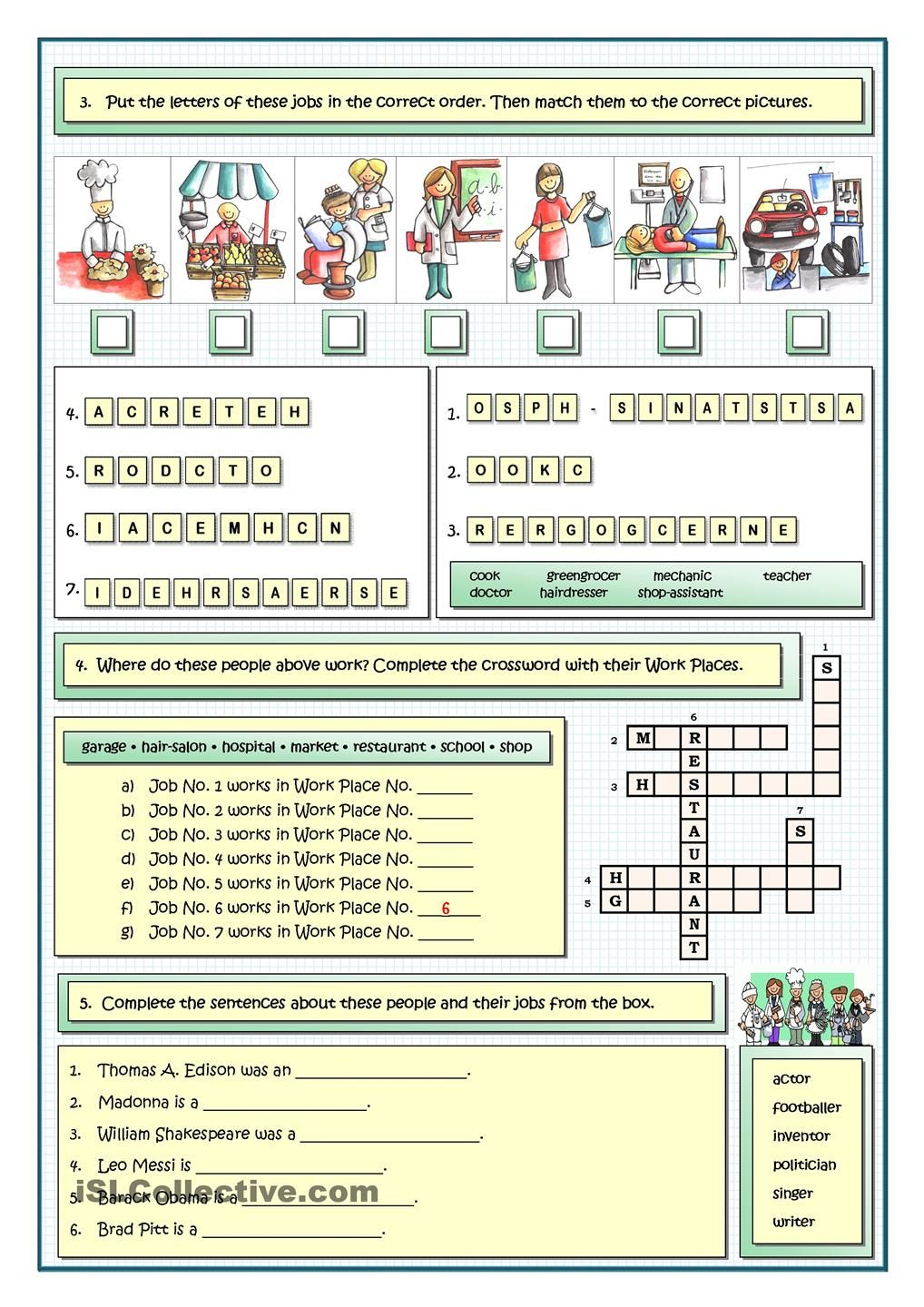 JOBS AND PROFESSIONS | English | Pinterest | English test ...
