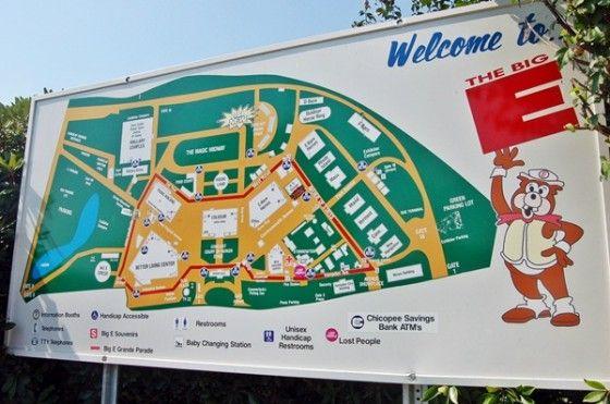 Big E grounds map THE BIG E FAIR Pinterest