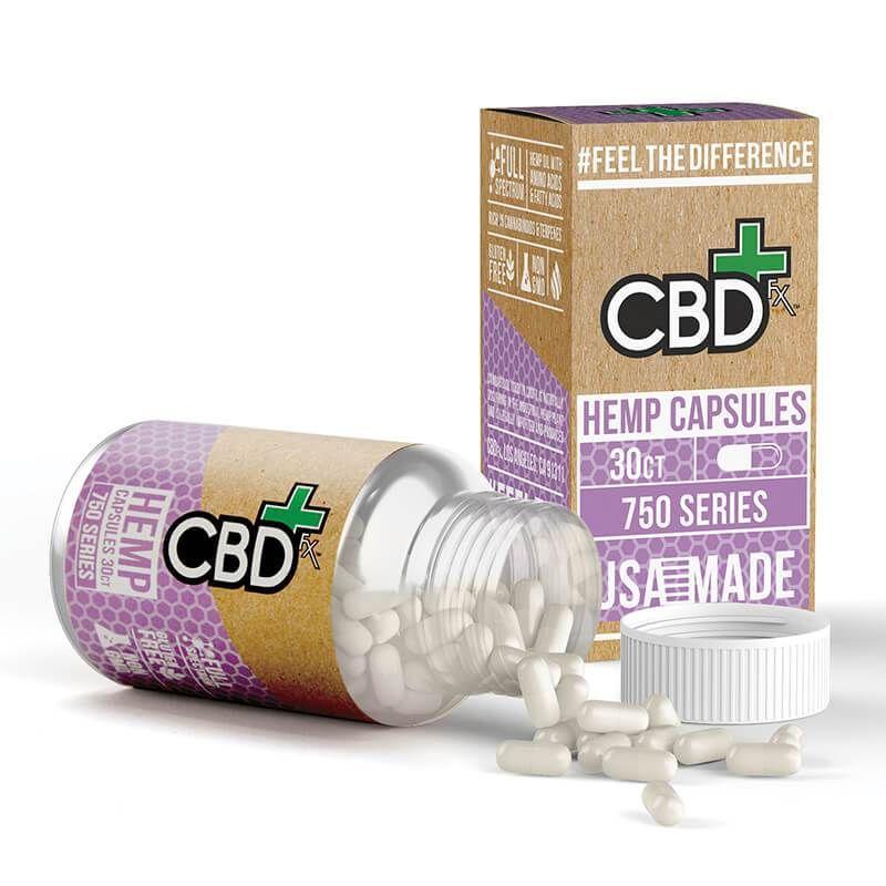 CBD Capsules 750mg - Full Spectrum CBD Pills | CBD FX | Cbd