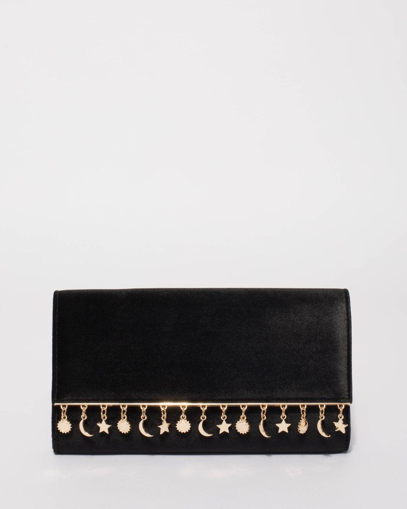 439b3da0ac Black Charm Evening Clutch Bag in 2019 | Style | Bags, Clutch bag, Black