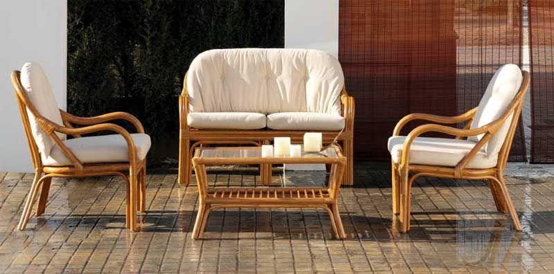 Conjunto sillones sofa y mesa rattan http www for Muebles de jardin rattan