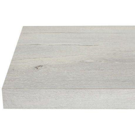 plan snack stratifié effet chêne blanc mat l.200 x p.40 cm, ep.38