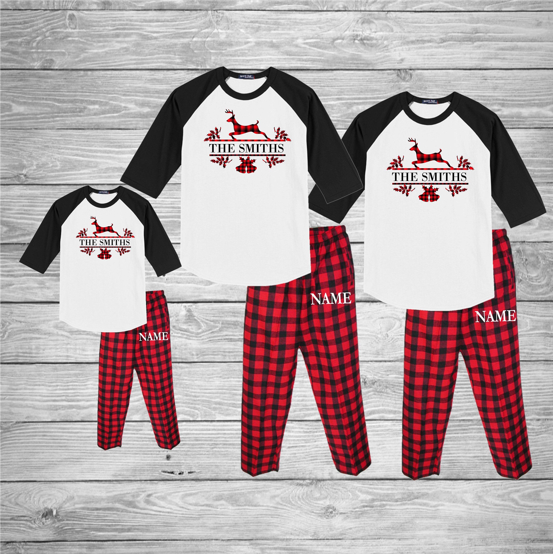Family Christmas Pajamas, flannel pajamas, matching